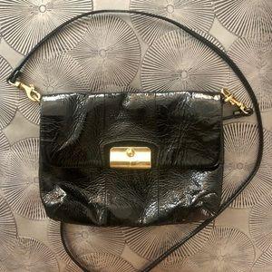 Coach black patent leather clutch/small purse